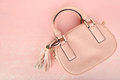 Female pink bag Royalty Free Stock Photo
