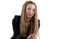 Female portrait braids a of a beutiful young girl with dreadlocks Stock Photography