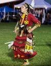 Female Pow-wow Dancer Royalty Free Stock Photo