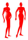 Female pregnant figure Royalty Free Stock Images