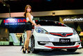 Female presenters model at the honda booth during bangkok june bangkok international auto salon exciting modified car show on Royalty Free Stock Image