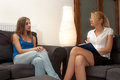A female psychotherapist treats a female patient Stock Photography