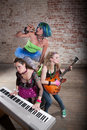 Female Punk Rock Band Stock Photo