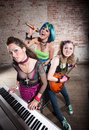 image photo : Female punk rock band