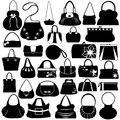 Female purse set isolated on white Stock Image