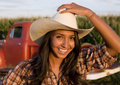 Female Rancher Royalty Free Stock Photography