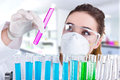 Female researcher in laboratory Royalty Free Stock Photo