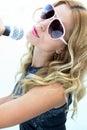 Female Rock Star Royalty Free Stock Photo
