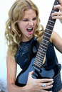Female Rock Star Royalty Free Stock Images
