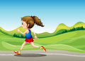 The female runner illustration of Royalty Free Stock Images
