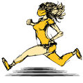 Female runner an image of a Royalty Free Stock Images