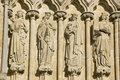 Female Saints, Salisbury Cathedral Royalty Free Stock Image