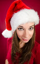 Female santa Royalty Free Stock Photography