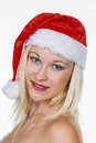 Female santa claus Stock Image