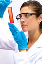 Female Scientist in Lab Stock Image