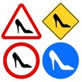 Female Shoe Signs Stock Image
