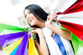Female shopaholic Stock Image