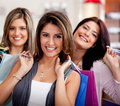 Female shoppers Royalty Free Stock Images