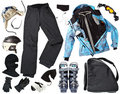 Female skier clothes Royalty Free Stock Photos