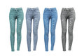 Female skinny jeans Royalty Free Stock Photo