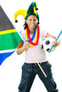 Female soccer fan Royalty Free Stock Photo