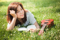 Female song writer. Royalty Free Stock Photo