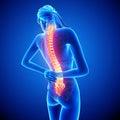 Mujer espina dolor