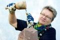 Female Stonemason Royalty Free Stock Images