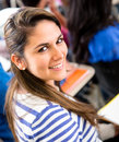 Female student in class Royalty Free Stock Image