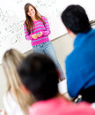 Female student in class Royalty Free Stock Photo