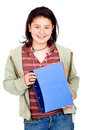 Female student with notebooks Stock Image