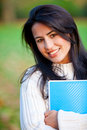 Female student outdoors Stock Images