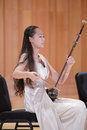Female student playing erhu xiamen university students art festival tryouts amoy city china Royalty Free Stock Image