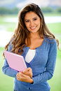 Female student smiling Royalty Free Stock Photo