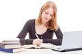 Female student studying Stock Photos