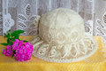 Female summer hat for protection against the sun during summer h Royalty Free Stock Photo