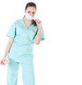 Female Surgeon Doctor Holding ...