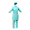 Female surgeon dress with blood isolated on white background d model of Royalty Free Stock Photos