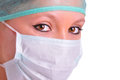 Female Surgeon with face mask Royalty Free Stock Photos
