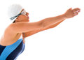 Female swimmer diving Royalty Free Stock Images