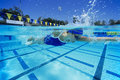 Female Swimmer In Pool Royalty Free Stock Photo