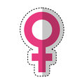 Female symbol isolated icon