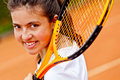 Female tennis player Royalty Free Stock Images