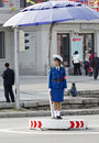 Female traffic police.DPRK Stock Image
