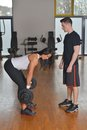 Female trainer working with her trainee Royalty Free Stock Photo