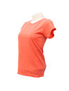 Female tshirt template on the mannequin white background with clipping path Stock Photo