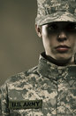 Female us army soldier a Royalty Free Stock Photos