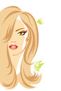 Female vector illustration of the person Royalty Free Stock Photos