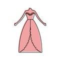 Female wedding dress icon