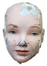 Female Woman Cracked Face Isolated Royalty Free Stock Photo